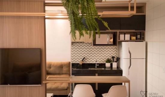 Ambiente: Cozinha/Sala | Gezieli Schneider | MDF Carvalho Castelli
